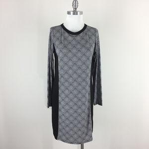 Michael Kors M Black White Geo Colorblock dress